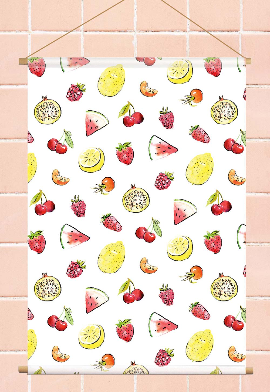 Tropisch fruit textielposter