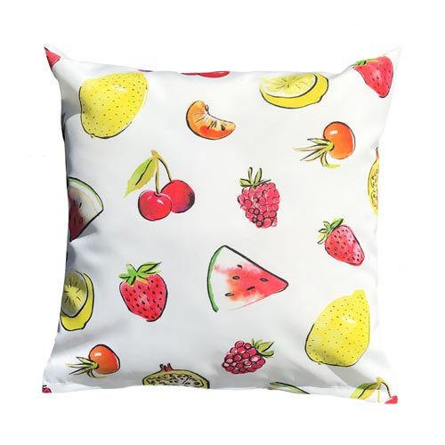 Waterverf fruit print op kussen