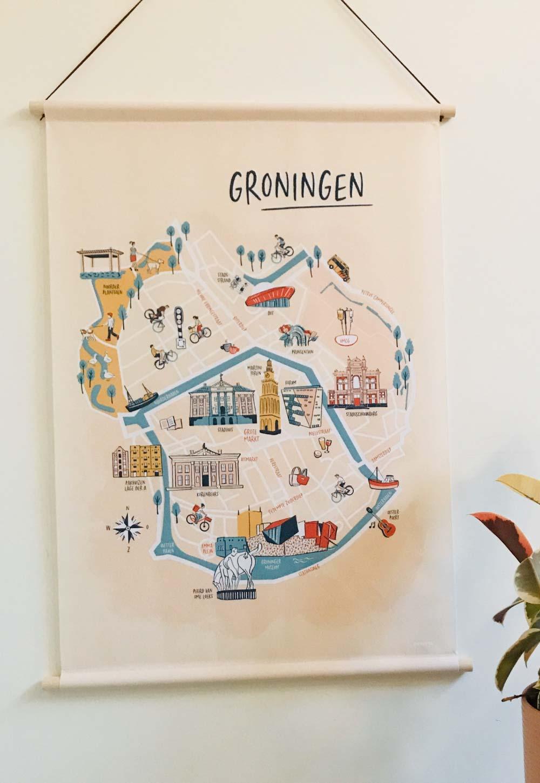 Wandplaat Groningen