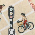 Illustratie fiets stoplichten Groningen