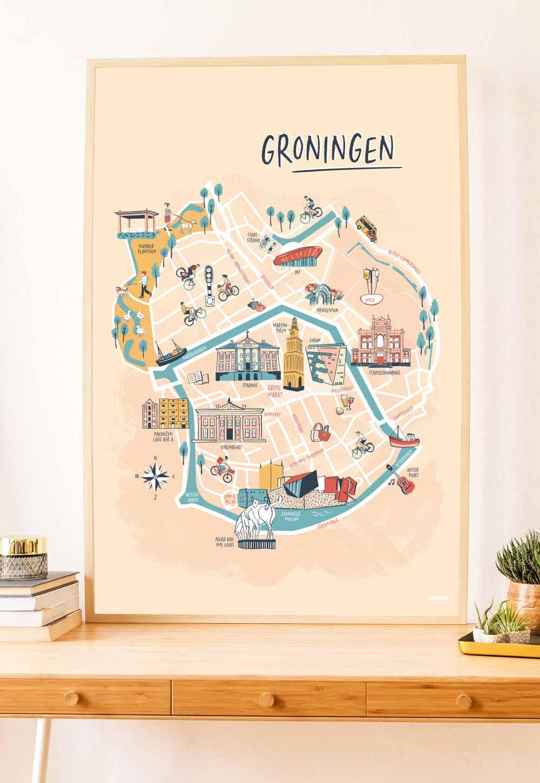 Groningen interieur poster